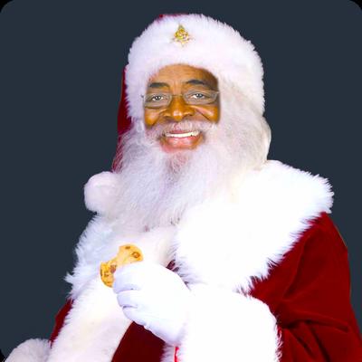 santa surprised rudolf the red nose reindeer - Free Santa Pictures